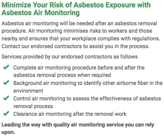 Asbestos Watch Newcastle - air monitoring right